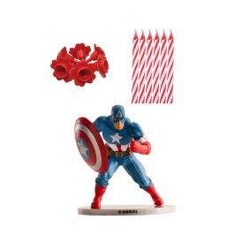 Kit para Decorar Tartas Capitán América de Los Vengadores