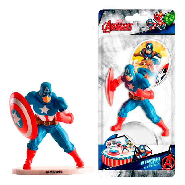 Kit para Decorar Tartas Capitán América