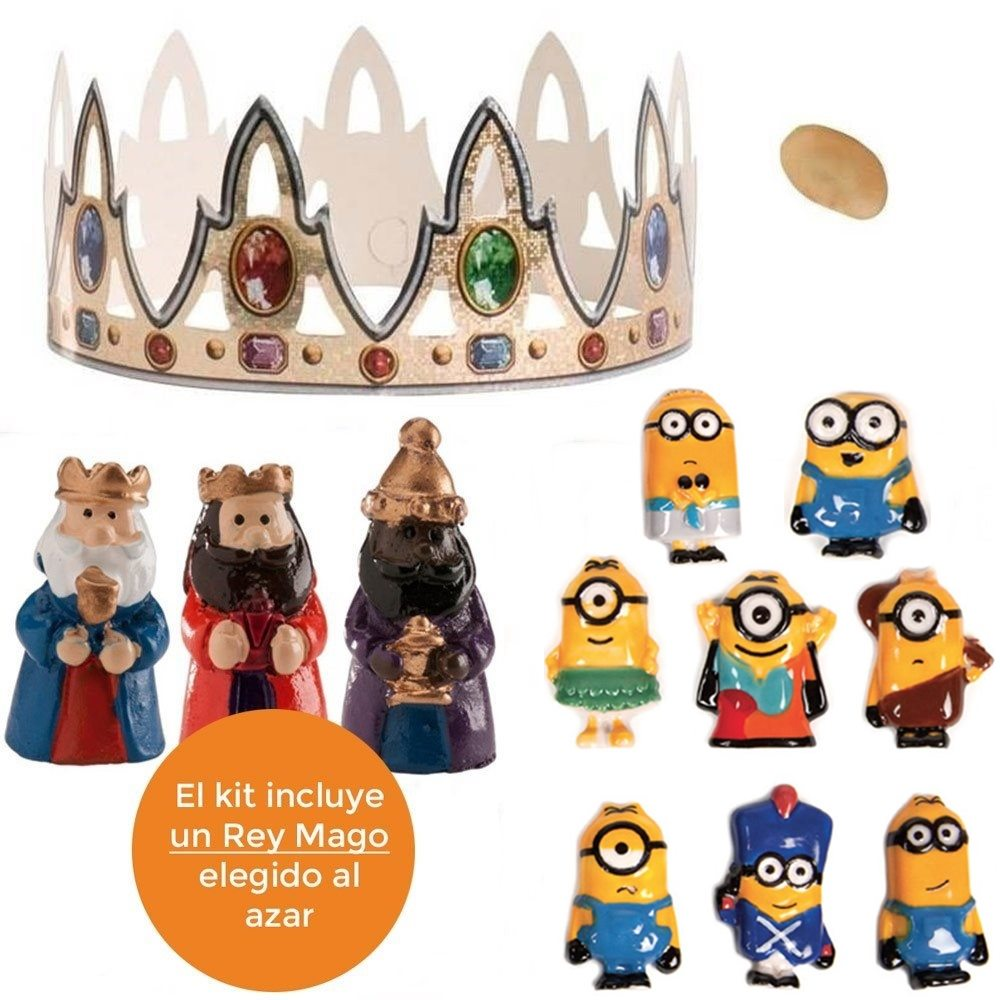 Kit para roscón de reyes Minions (6 pcs)
