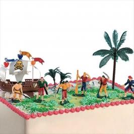 Kit para Tartas Piratas con Barco
