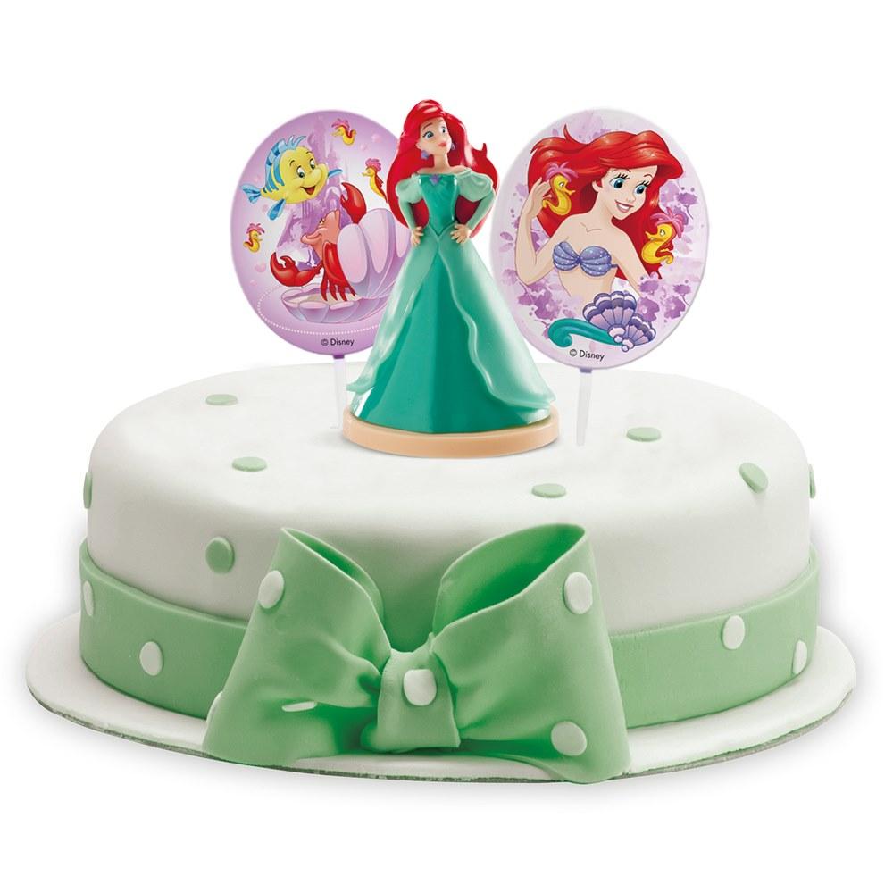Kit Princesa Ariel para Decorar Tartas
