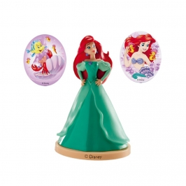 Kit Princesa Ariel para Decorar Tartas