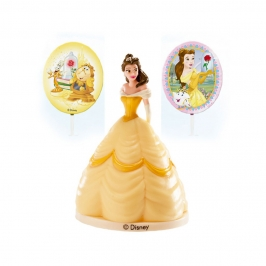 Kit Princesa Bella para Decorar Tartas