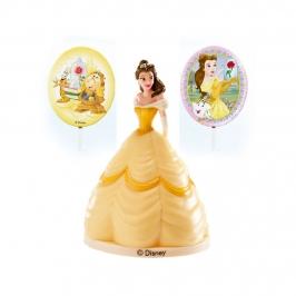 Kit Princesa Bella para Decorar Tartas