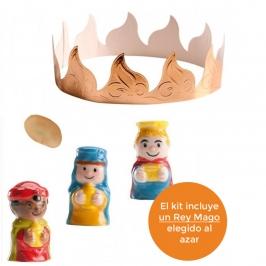 Kit Roscón de Reyes Nº 3 (Haba + corona + Rey)