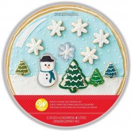 Kit  4 Cortadores Navidad con Bandeja