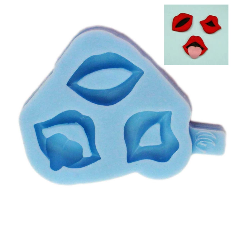 Molde de silicona Labios