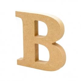 Letra de Madera B 12cm
