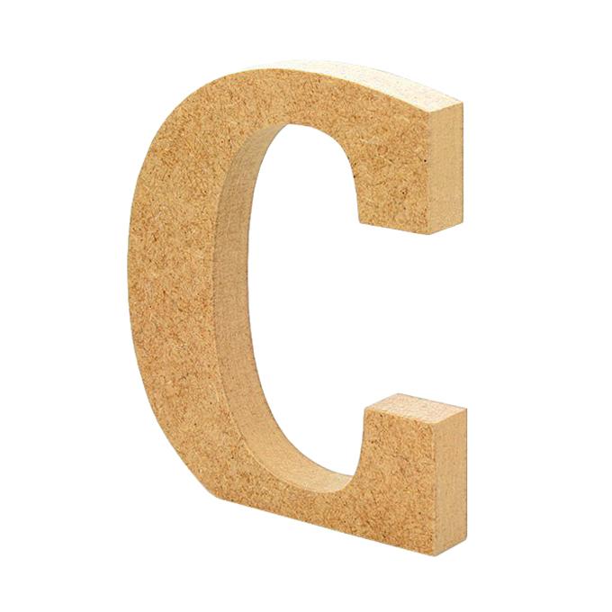 Letra de Madera C 12 cm