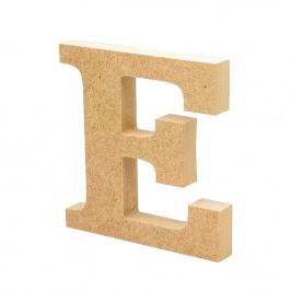 Letra de Madera E 12cm