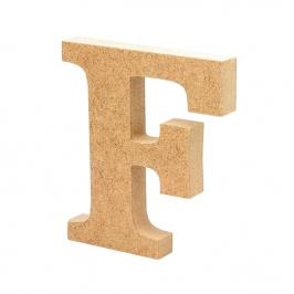 Letra de Madera F 12cm