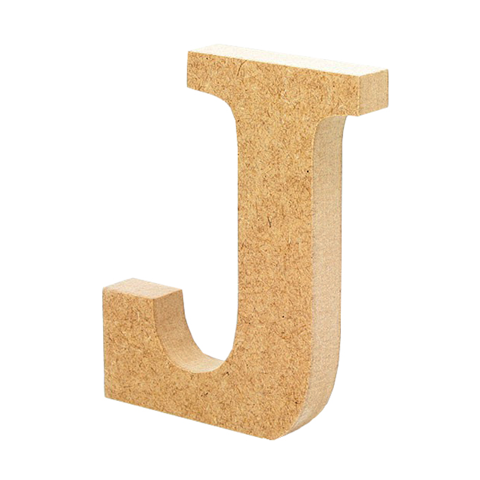 Letra de Madera J 12 cm