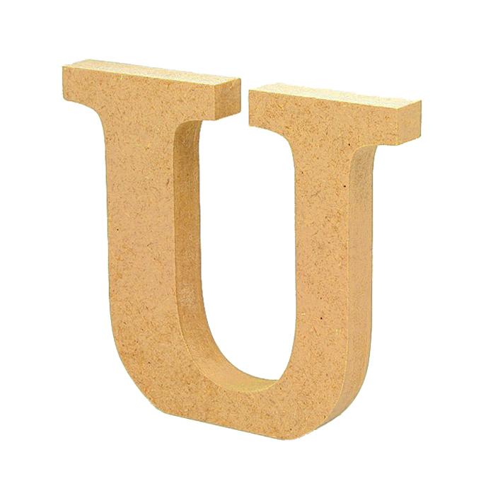 Letra de Madera U 12cm