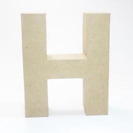 Letra H de Cartón 17cm