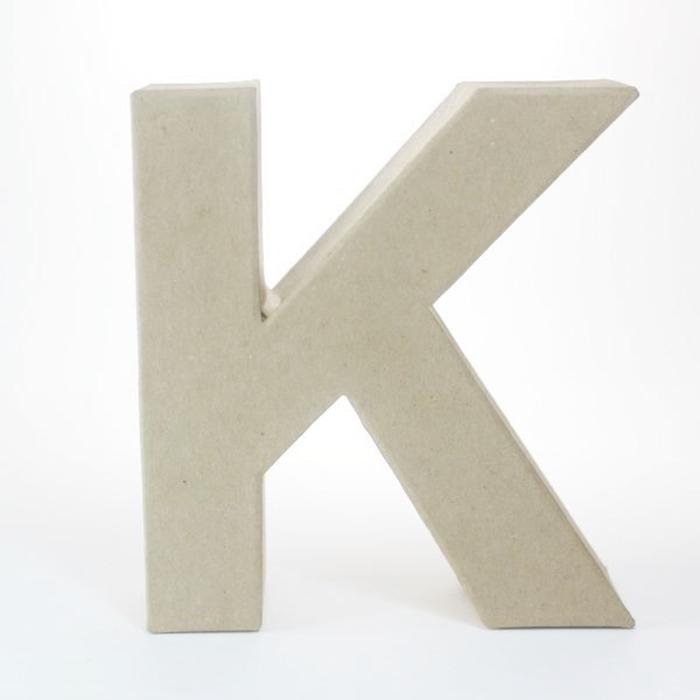 Letra K de Cartón 17cm