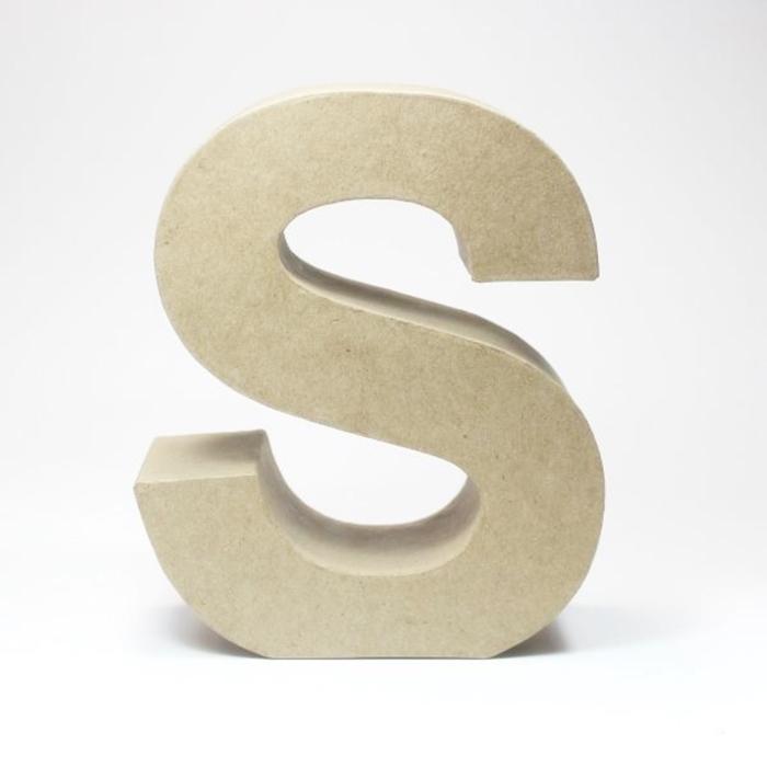 Letra S de Cartón 17cm