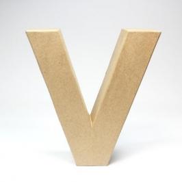 Letra V de Cartón 17cm