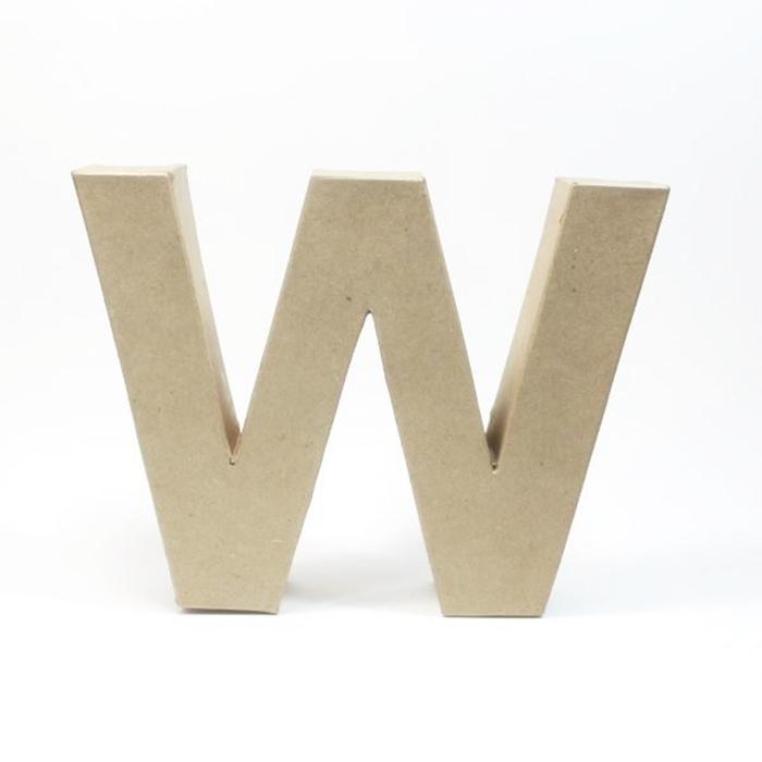 Letra W de Cartón 17cm