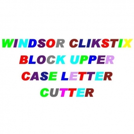 Cortador con expulsor Letras Mayúsculas Block