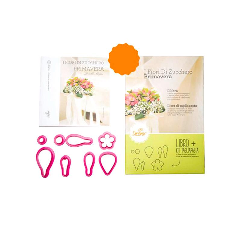 Libro y Cortadores Flores de Primavera