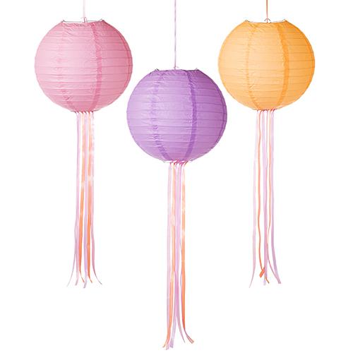 Linternas de Papel en tonos pastel 3 Unidades