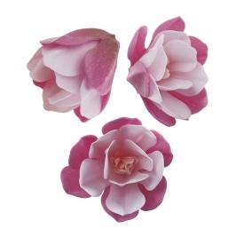 Magnolias de Oblea color Rosa 6 ud
