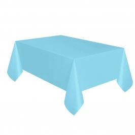 Mantel de Plástico Azul Claro
