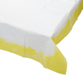 Mantel de Papel Amarillo Fluorescente 140 cm