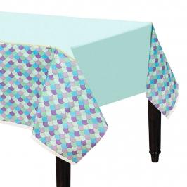 Mantel de papel de sirena de 137 cm x 243 cm