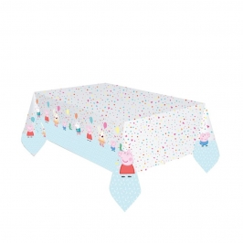 Mantel de Plástico Peppa Pig Cumpleaños