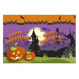 Mantel de Plástico Rectangular Happy Halloween