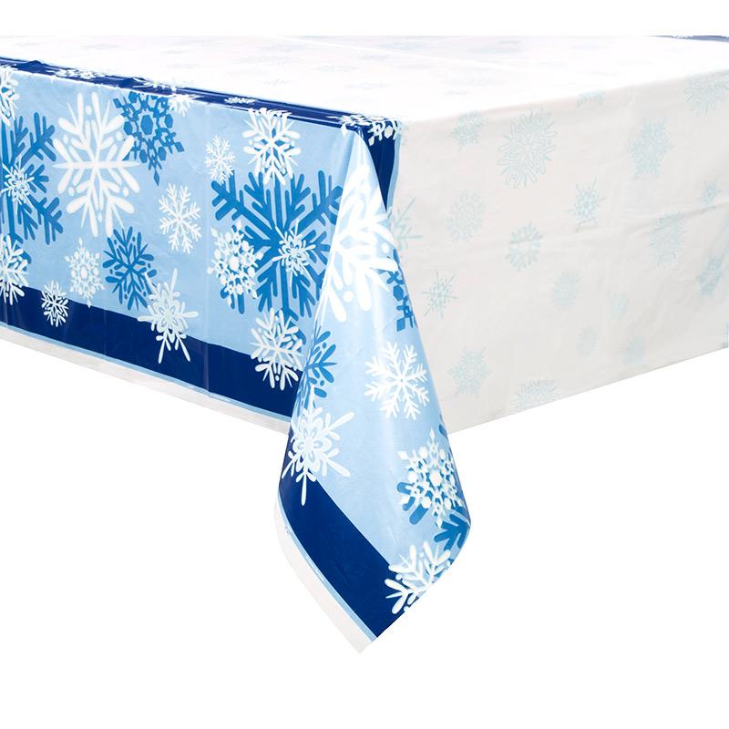 Mantel de Plástico Copo de Nieve