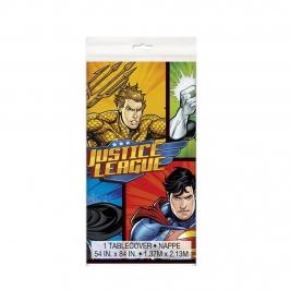 Mantel de plástico de La Liga de la Justicia
