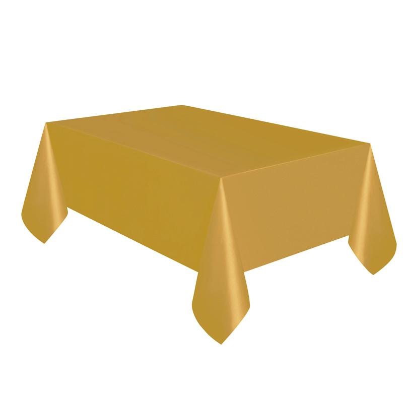 Mantel de Plástico Dorado