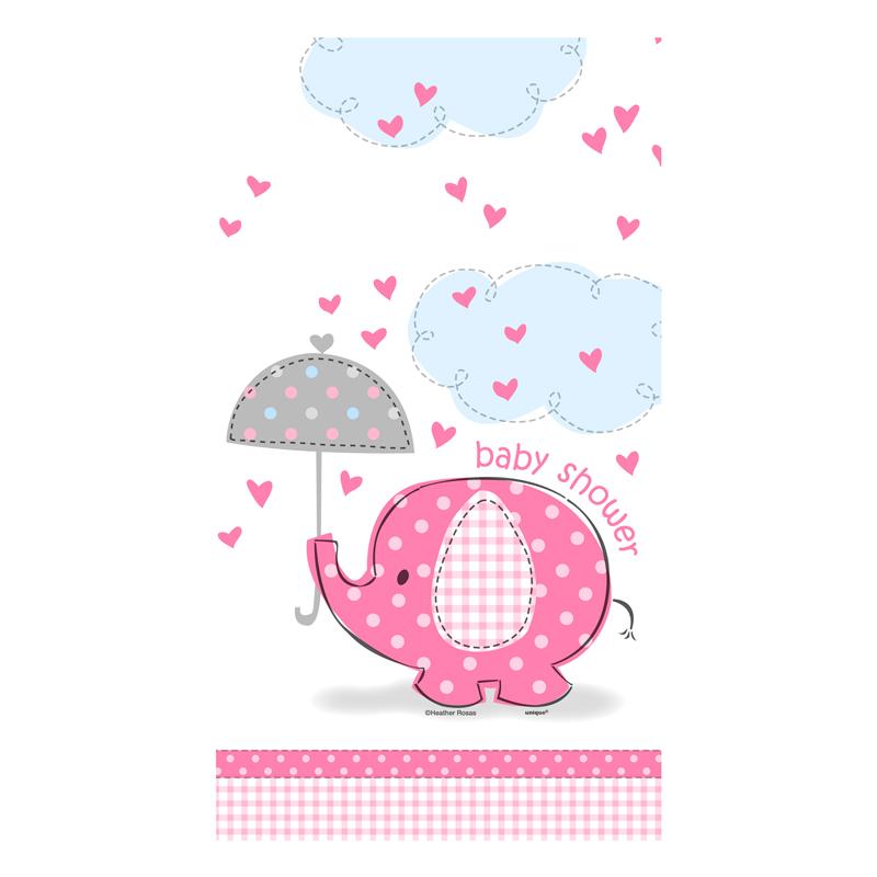 Mantel de Plástico Elefante Rosa