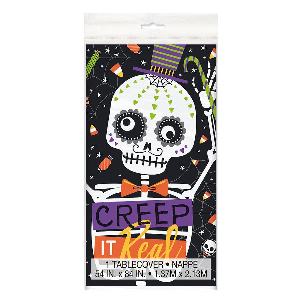 Mantel de Plástico Esqueleto Halloween