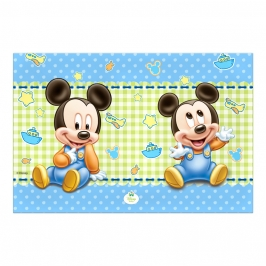 Mantel de Plástico Mickey Bebé