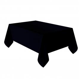 Mantel de plástico negro