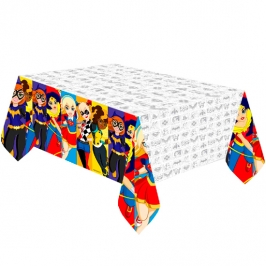 Mantel de Plástico Super Hero Girls