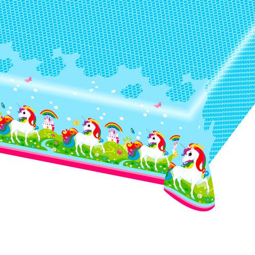 Mantel de Plástico Unicornio