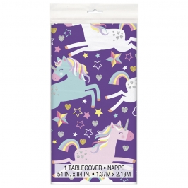 Mantel de Plástico Unicornios
