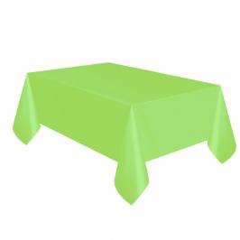 Mantel de plástico verde claro de 137 x 274 cm