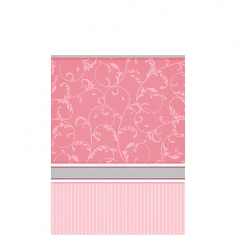 Mantel plástico para Comunión rosa