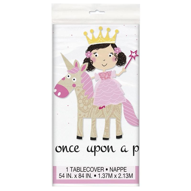 Mantel Plástico Princesa y Unicornio