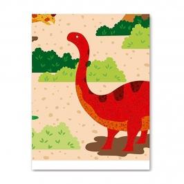 Mantel de Plástico Dino Island 180 cm