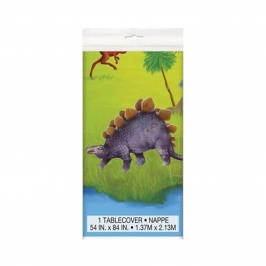 Mantel de Plástico Dinosaurios 213 cm x 137 cm