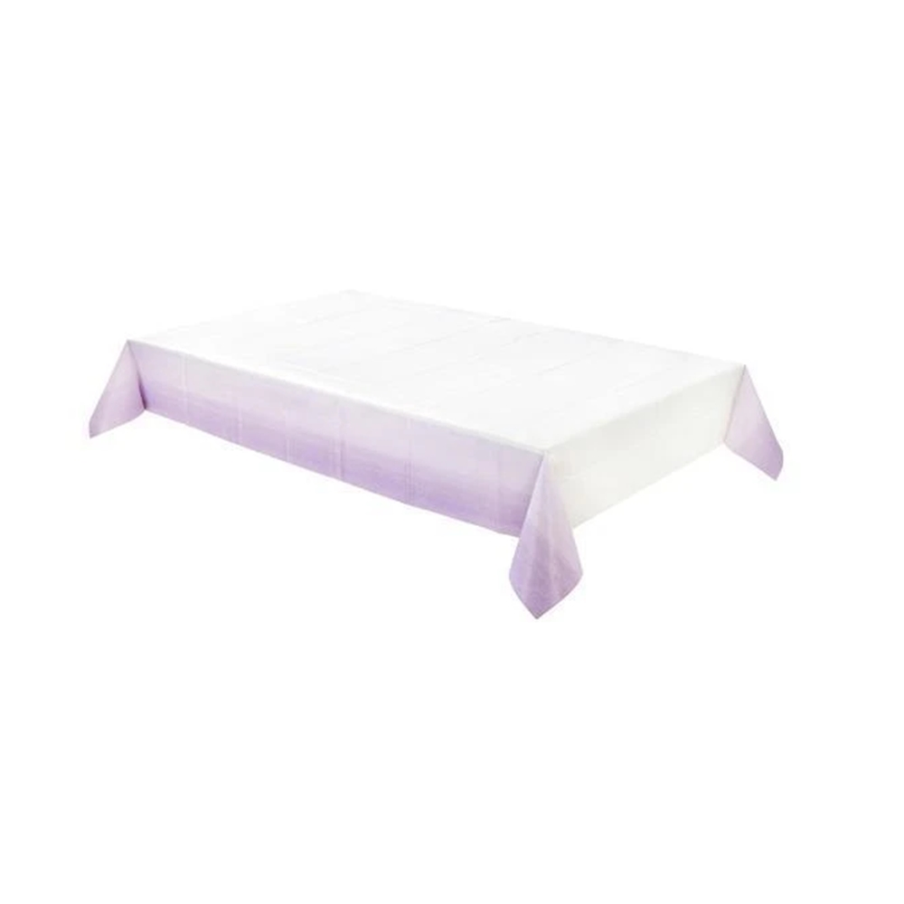 Mantel de Papel Rectangular Lilac 180 cm