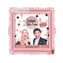 Marco inflable de 71 cm en color rosa para hacer divertidas y originales fotos