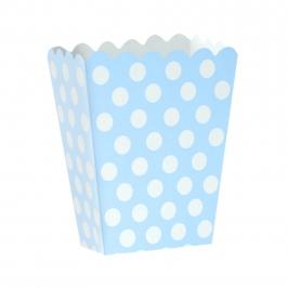 Mini Caja para Palomitas Azul con Lunares Blancos - My Karamelli