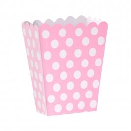 Mini Caja para Palomitas Rosa con Lunares Blancos - My Karamelli